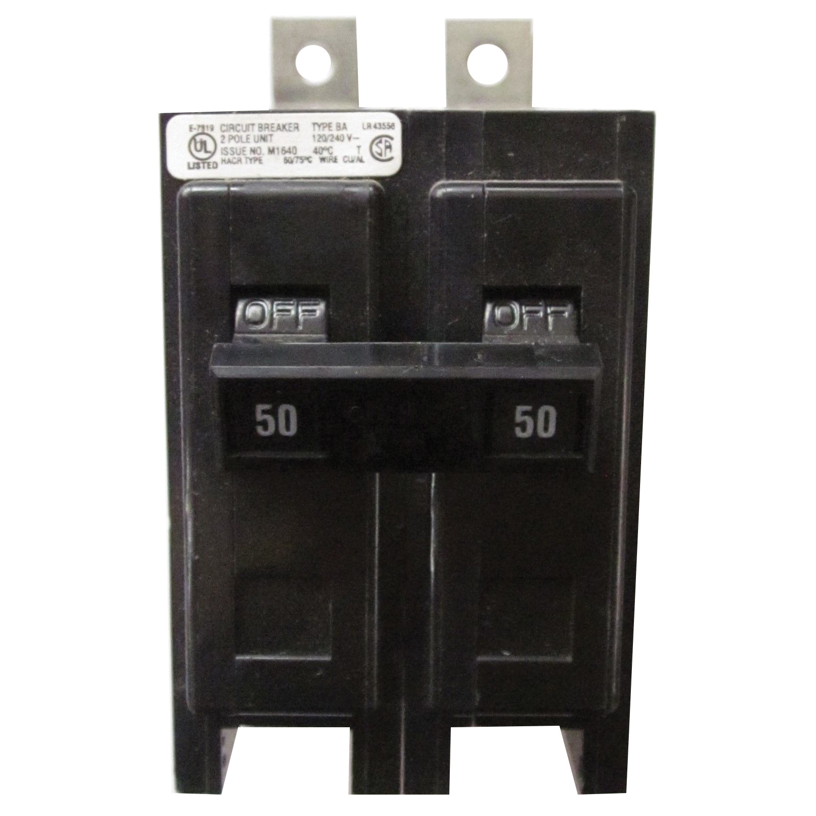 hight resolution of eaton bab2050h bolt on mount type bab industrial miniature circuit breaker 2 pole 50