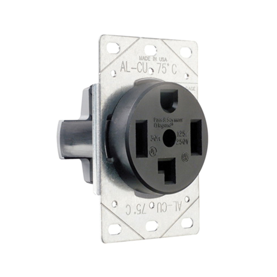 medium resolution of pass seymour 3864 straight blade power outlet receptacle 30 amp 125 250