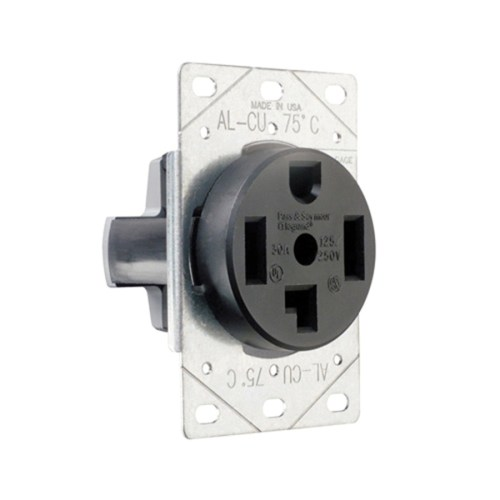 small resolution of pass seymour 3864 straight blade power outlet receptacle 30 amp 125 250