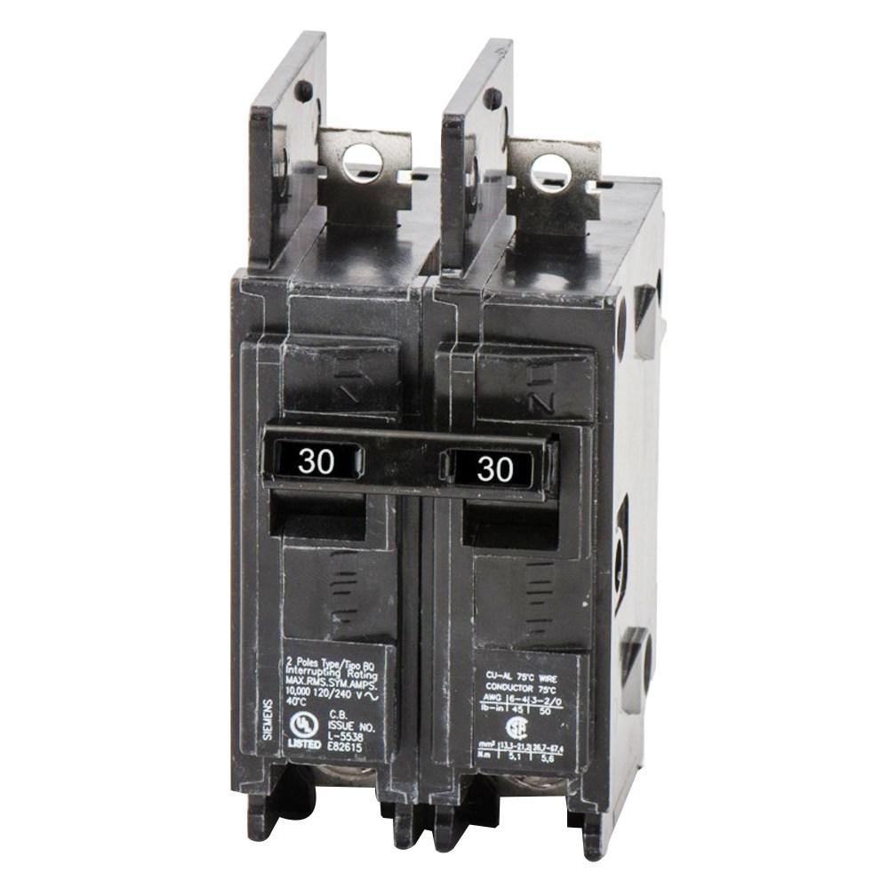 medium resolution of siemens bq2b030 bolt on mount type bq molded case circuit breaker 2 pole 30 amp 120 240 volt ac molded case circuit breakers breakers and fuses power