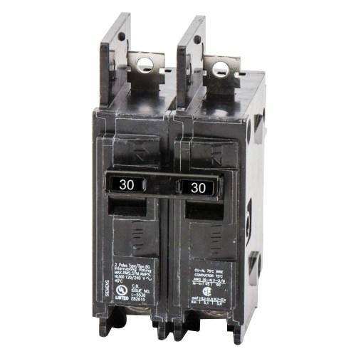 small resolution of siemens bq2b030 bolt on mount type bq molded case circuit breaker 2 pole 30 amp 120 240 volt ac molded case circuit breakers breakers and fuses power