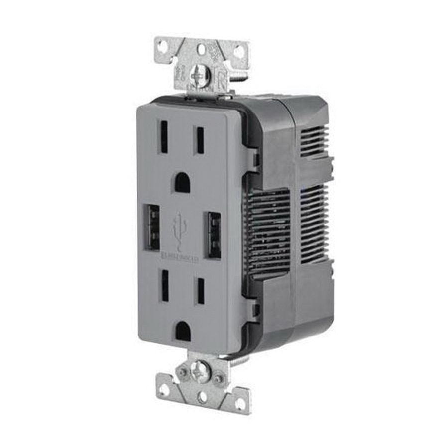 hight resolution of leviton t5632 gy residential grade tamper resistant combination decorator straight blade duplex receptacle