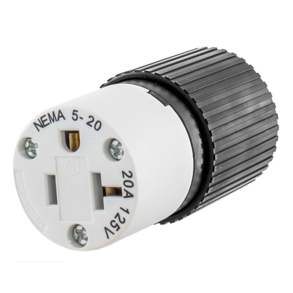 medium resolution of hubbell wiring 520sc 3 wire 2 pole polarized straight blade connector 125