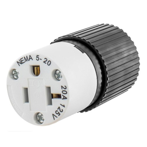 small resolution of hubbell wiring 520sc 3 wire 2 pole polarized straight blade connector 125