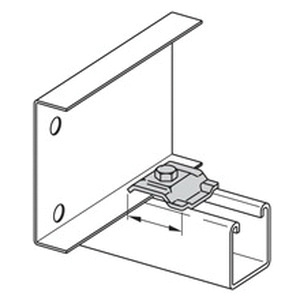 B-Line 9ZN-1208NB Zinc Plated Steel Cable Tray Clamp/Guide