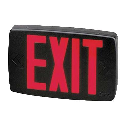 277m6 ac led exit sign black housing