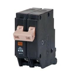 eaton chf245 plug on mount circuit breaker with mechanical trip flag 2 pole 45 [ 1000 x 1000 Pixel ]