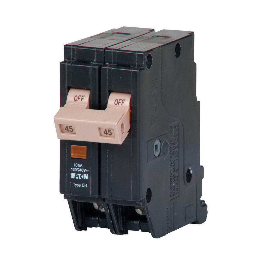 medium resolution of eaton chf245 plug on mount circuit breaker with mechanical trip flag 2 pole 45