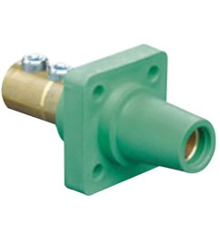 leviton 16r22 g 1 pole cam type taper nose 90 degree panel [ 2000 x 2000 Pixel ]