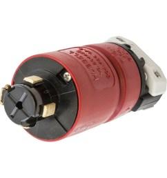 hubbell wiring hbl20445b 4 wire 3 pole locking plug 480 volt ac [ 1000 x 1000 Pixel ]