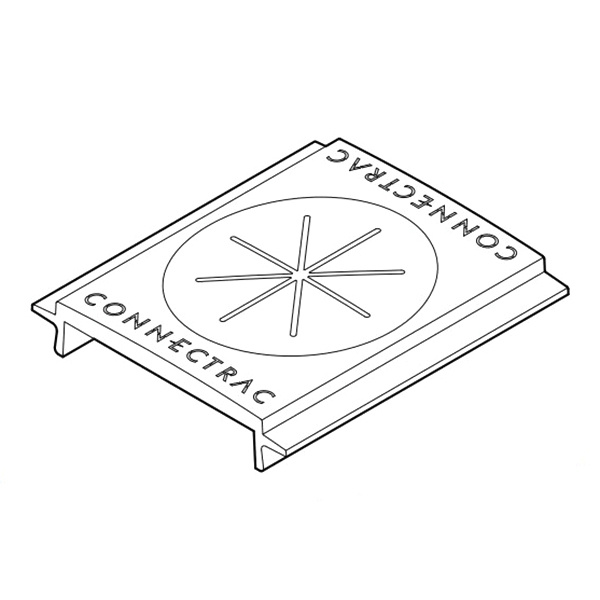Connectrac AC-2.7-GT-BK Grommet 3-Inch x 2.7-Inch ABS