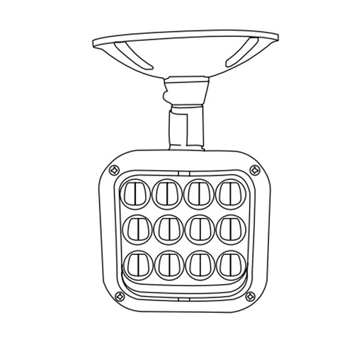 Emergi-Lite EF12-LED 1-Head LED Outdoor Remote Head 3.6/6
