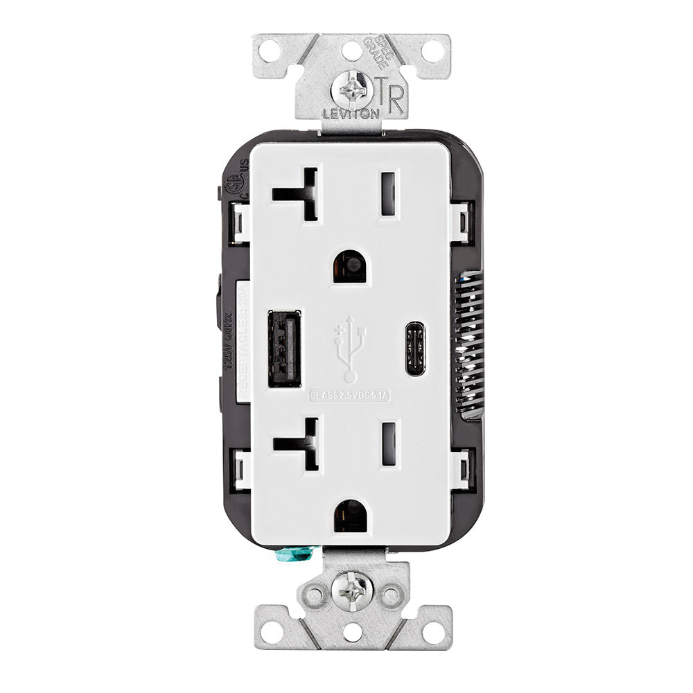 hight resolution of leviton t5833 w type a type c combination duplex receptacle outlet and
