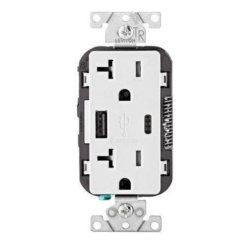 small resolution of leviton t5833 w type a type c combination duplex receptacle outlet and