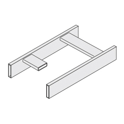 Cablofil 09-8104-0010-12BK Steel Tubular Straight Section