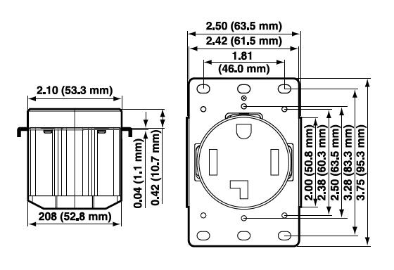 Leviton 9730-A 3-Wire 2-Pole Extra Heavy-Duty Straight