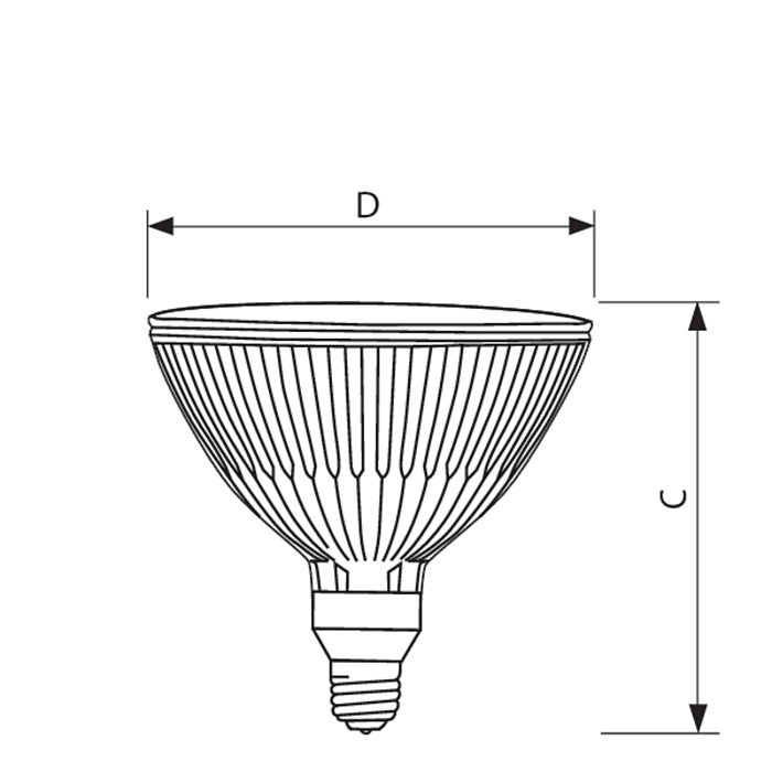 Philips Lighting Dimmable Par38 Short Neck Energy