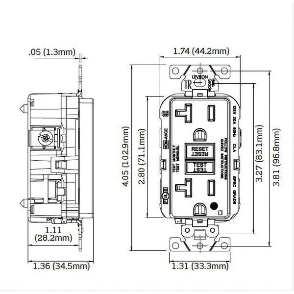 Leviton G5362-WTI Extra Heavy-Duty Weather-Resistant