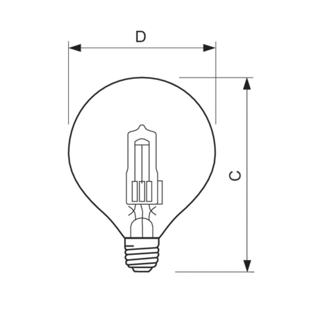 Philips Lighting G16 1 2 Globe Decorative Halogen Lamp E26 Single Contact Medium Base