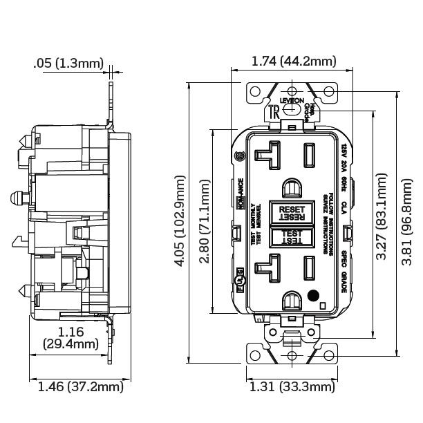 Leviton MGFT2-HGI Hospital Grade Extra Heavy-Duty Tamper