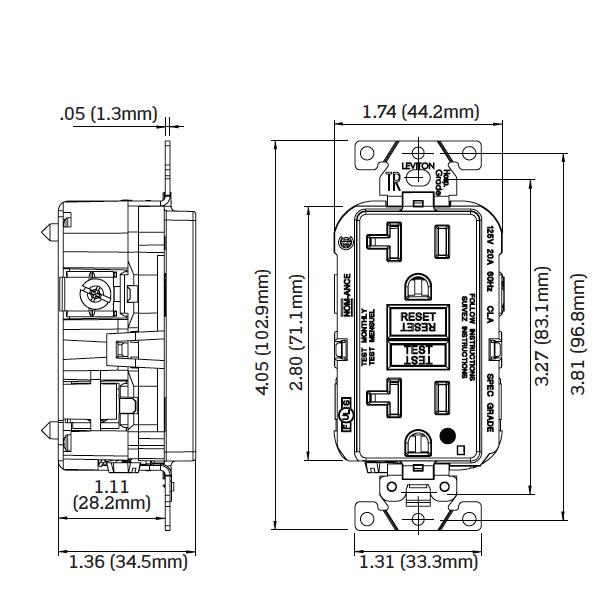 Leviton GFTR2-HFW Hospital Grade Extra Heavy-Duty Tamper