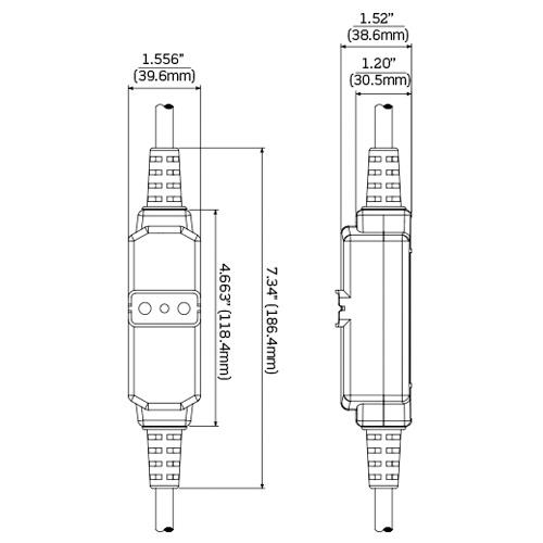 Leviton GFM15-3C SJTW Portable GFCI Cordset 12/3 Black and