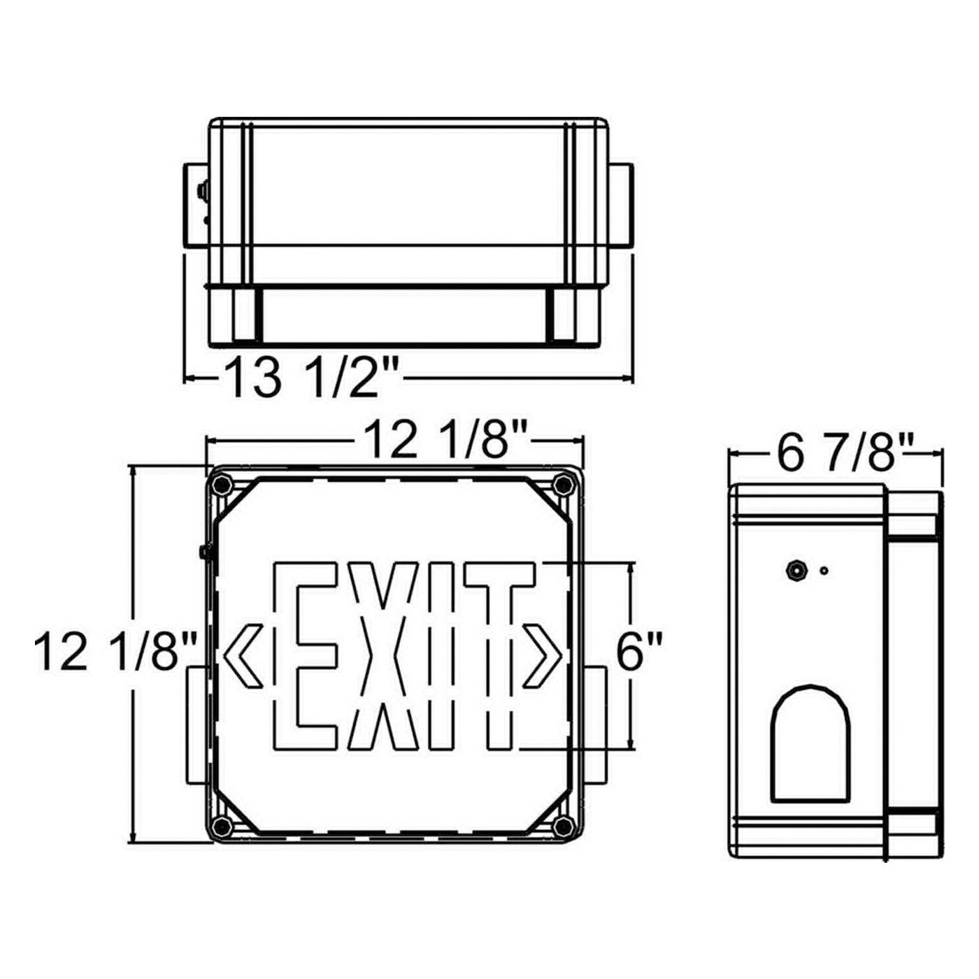 Orbit Industries ESLN4-G-EB Battery Back-Up LED Exit Sign