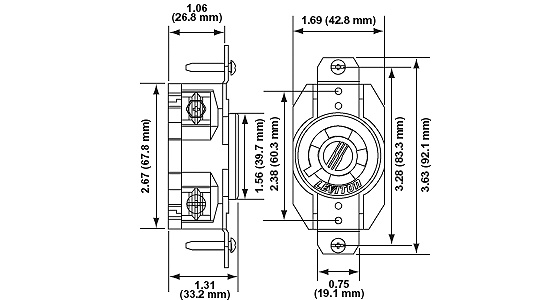 Leviton 2640 Industrial Grade Impact And Abuse-Resistant