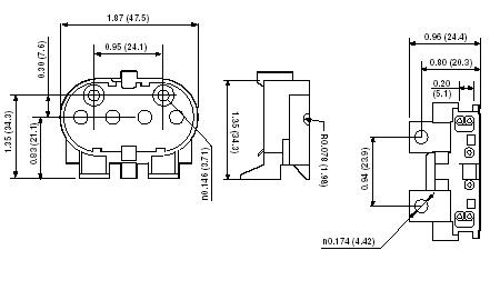 Leviton 13455 Twin Tube Fluorescent Lampholder 600-Volt