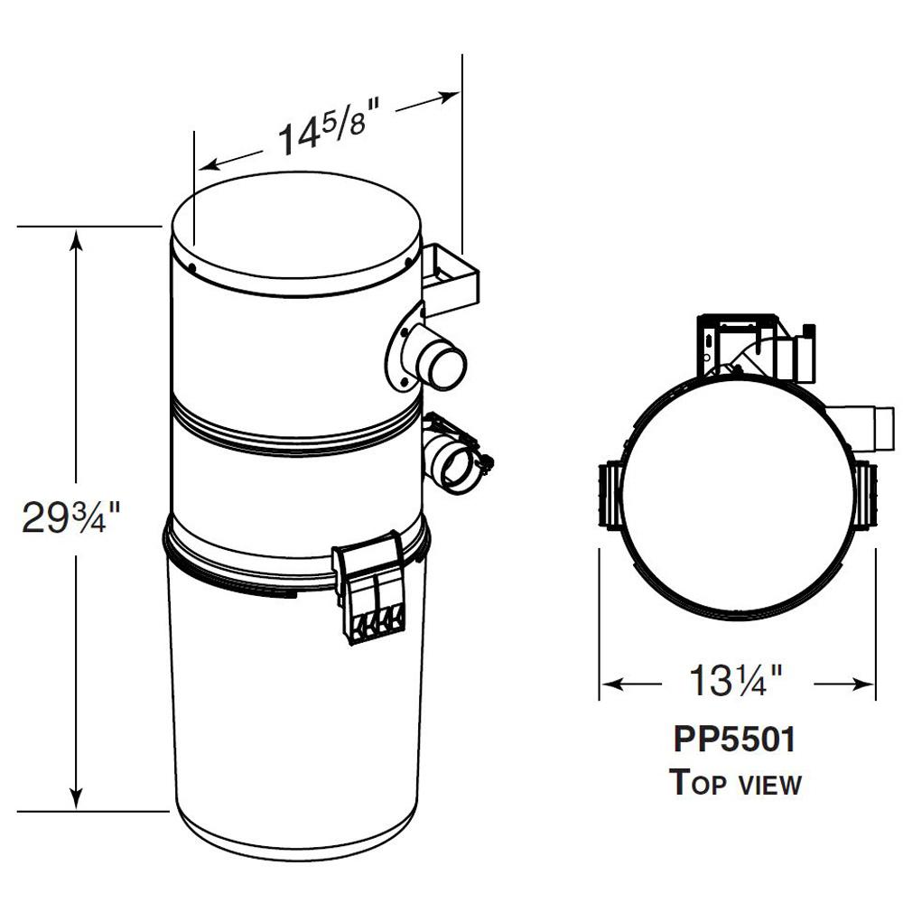 Nutone PP5501 Central Vacuum System Power Unit 120-Volt AC
