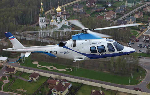 AgustaWestland has seen success in Russia, including with the AW109 Grand. AgustaWestland Photo