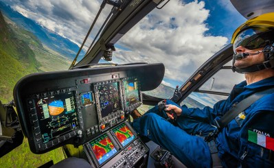 """The cockpit of the Airbus Helicopters H145 """"Pelikan 1"""