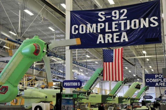 S-92 assembled in Coatesville, Pennsylvania