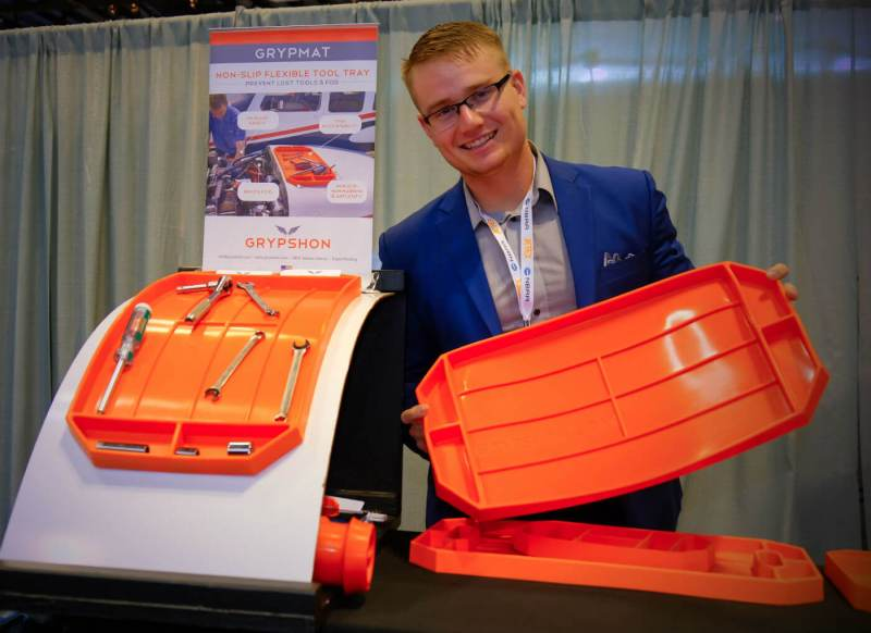 Tom Burden is the inventor of the GrypMat, an innovative tool tray designed specifically for aircraft mechanics. Ben Forrest Photo