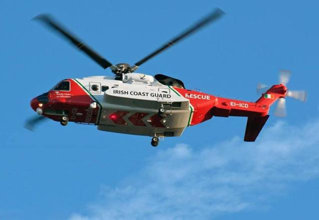 Rescue 116, an Irish Coast Guard Sikorsky S-92, was lost during a SAR operation off the coast of Ireland on March 14. Irish Coast Guard Photo