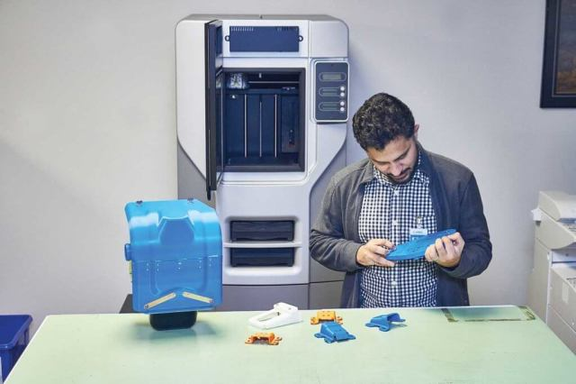 Airbus Helicopters Canada purchased an additive manufacturing machine two years ago, and uses it to make ABS plastic parts -- primarily for creating prototypes, but also for manufacturing jigs and basic checking tools. Vitek Zawada Photo