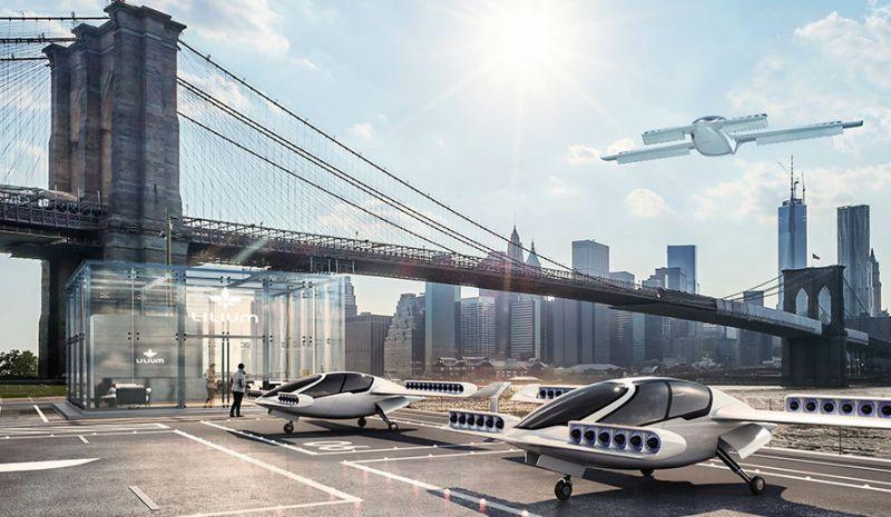 Lilium is developing a five-seat e-VTOL aircraft as an on-demand air taxi. Lilium Image