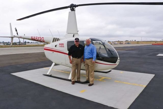 The author (left) with Robinson chief instructor Tim Tucker, who is a great believer in the use of the