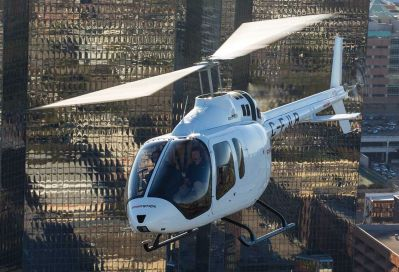 After being out of the short light single engine helicopter market for seven years, Bell returns with the 505 Jet Ranger X. The aircraft has a proven 206L drive train, a drastically improved cabin over the 206, and cruise speeds in excess of 120 knots. Sheldon Cohen Photo