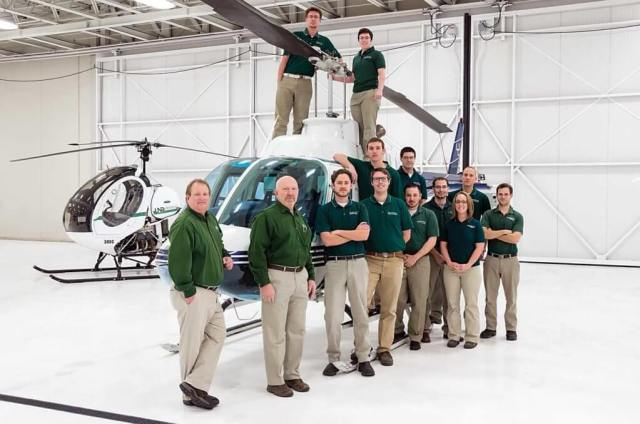 UND's helicopter department has eight pilot instructors.