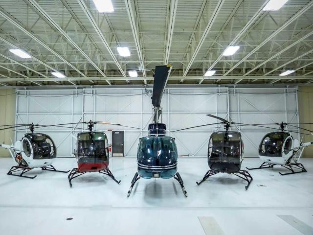 The UND previously operated Bell 206s in addition to S-300s, but has now transitioned to an entirely turbine-powered fleet.