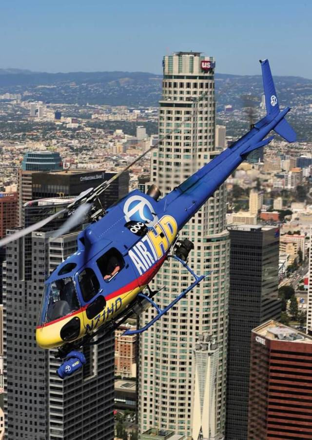 Air 7 HD drops away from downtown to head for another story.