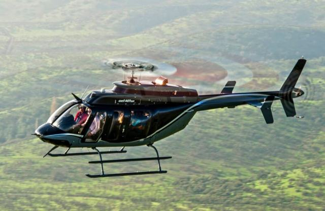 The Bell 407GXP, launched in 2015, is an upgrade to the Bell 407 product line that provides an additional 50 pounds (22.5 kilograms) of payload capability, coupled with a new M250 Rolls-Royce engine. Bell Helicopter Photo