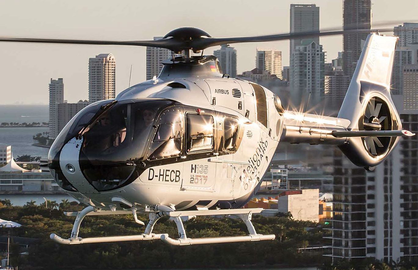 Airbus Helicopters' proprietary Helionix avionics suite is now available for the H135, as well as the larger H145, H175 and forthcoming H160. Airbus Helicopters Photo