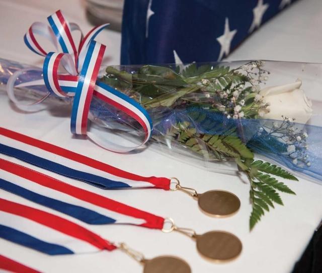 Urresti's commemorative medal at the National EMS Memorial Service.