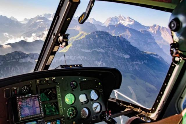 Pilots in Gsteigwiler regularly travel to mountain huts in the Alps that can be up to 12,000 feet above sea level.