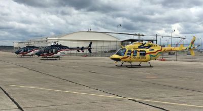 Joe Grygiel, senior director of base operations for Air Evac Lifeteam, said all aircraft and crews are on their way to the Air Evac Lifeteam fixed-wing base at the San Antonio airport. Air Evac Lifeteam Photo