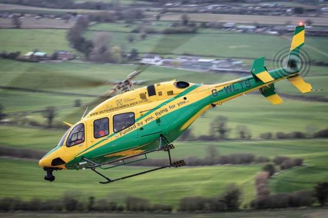 Wiltshire helicopter in flight.