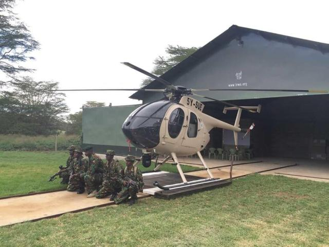 Lewa Wildlife Conservancy in Kenya uses an MD 530 to patrol an area of about 44,000 square kilometers. Lewa Photo