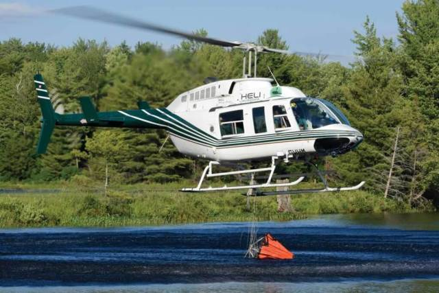 Last year, 60 to 70 percent of Heli Muskoka's workload was in aerial firefighting, but this year, it has had to pursue other opportunities.
